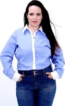 Vickttoria Vick Camisa Duas Cores ML Plus Size (48)