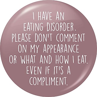 Flox Creative Small 25mm Pin Badge Eating Disorder Appearance