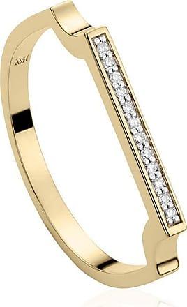 Monica Vinader Signature Thin Diamond ring - GOLD