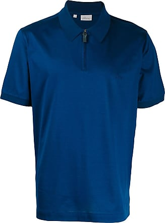 Brioni Camisa polo com zíper - Azul