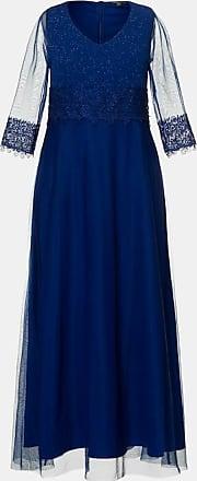 Ulla Popken Grosse Grössen Abendkleid, Damen, blau, Größe: 42, Polyester/Polyester, Ulla Popken