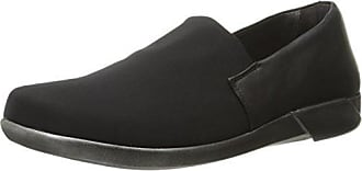 Naot Naot Womens Abstract Flat, Black Stretch/Jet Black Leather, 35 EU/4.5-5 M US