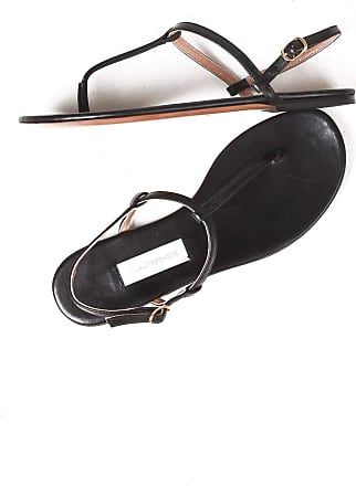 L'autre Chose Low Sandals Flip Flops Made in Italy Black Size: 3 UK