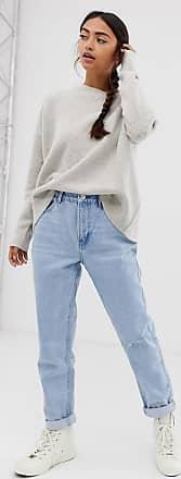 Bershka Hellblaue Mom-Jeans