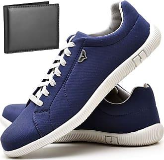 Juilli Kit Sapatênis Sapato Casual Com Carteira Masculino JUILLI 900DB Tamanho:41;cor:Azul;gênero:Masculino