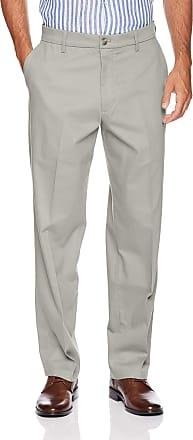 British Khaki Dockers Men/'s Classic Fit Pants Washed Khaki Cotton Stretch