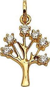 Prado Joias Pingente Em Ouro 18k Árvore Da Vida Com Zircônias
