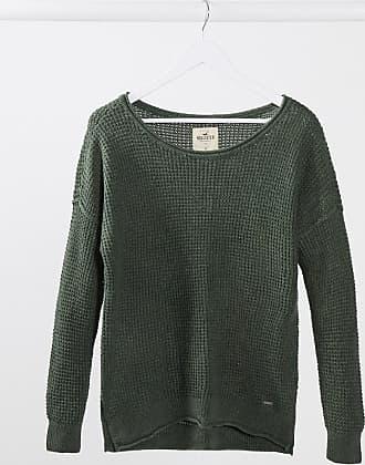 Hollister Langärmliges Sweatshirt mit Rundhalsausschnitt in Olivgrün