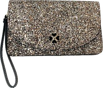 Kate Spade New York Multifunctional Glitter Wallet Wristlet Clutch (Rose Gold Odette Glitter)
