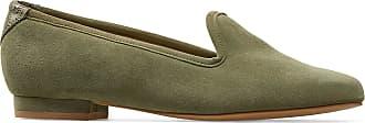 Van Dal Ladies Traveller Wide E Fitting Leather Pump Shoe (Olive, 5.5 UK)