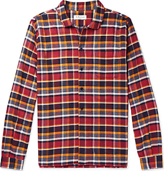 Ymc You Must Create Checked Cotton-flannel Shirt - Red