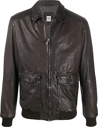 Eleventy panelled zipped jacket - Brown
