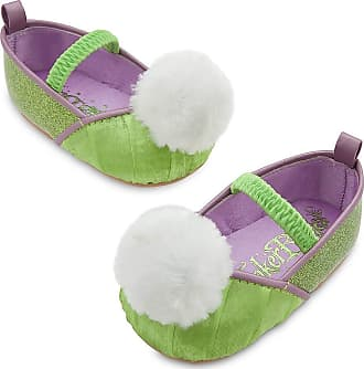 Disney Store Deluxe Tinker Bell Tinkerbell Costume Shoes Baby Size 12-18 Months Green