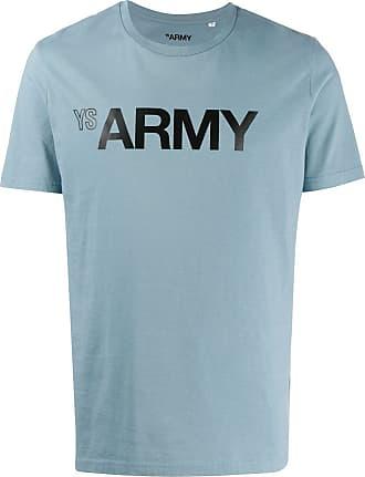 Yves Salomon Army logo T-shirt - Blue