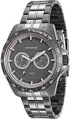 Mondaine Relógio Multifunção em Aço Preto