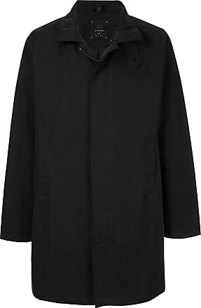 49 Winters Trench coat slim com zíper - Preto