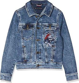 Tommy Hilfiger Boys Denim Jacket Easmbst, Chaqueta para Niños, Azul (Eagle  Salt Mid fa36e2181b