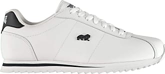 Lonsdale Mens Beckton Trainers Classic Lace Up Casual Everyday Tonal Stitching White UK 10 (44)