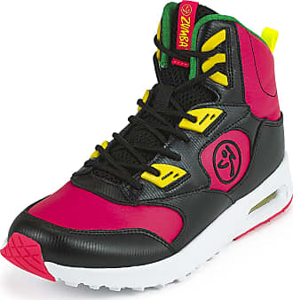 Zumba Air Classic Remix High Top Fitness Workout Dance Shoes for Women, Pink/Black, 3 UK