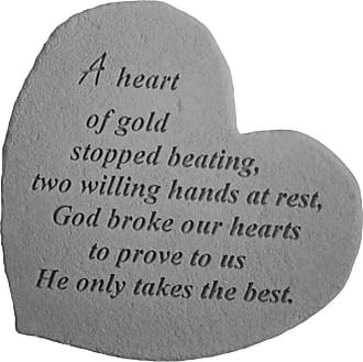 Kay Berry A Heart Of Gold Stopped Beating Heart Shaped Memorial Stone - 8601