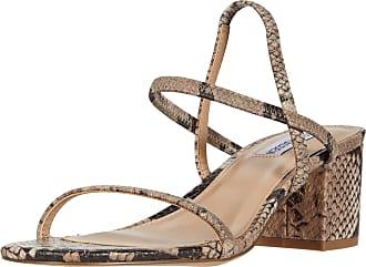 Steve Madden Womens Inessa Heeled Sandal, Blush Snake, 7.5 UK
