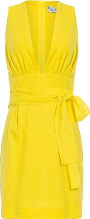 Colcci Vestido Curto Linho Colcci - Amarelo