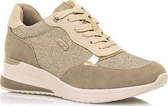 Mustang Womens Lana Track Shoe, Leopard Beige, 4 UK