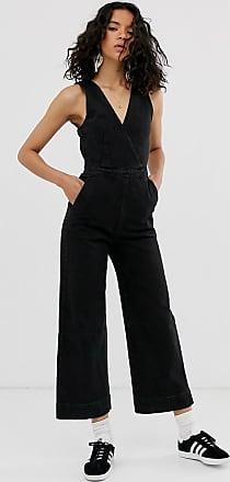 Weekday sleeveless denim jumpsuit in black