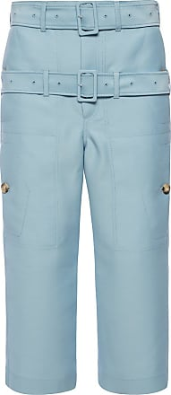 Lanvin Trousers With Decorative Stripes Womens Blue