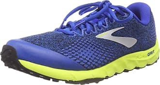 Brooks Mens PureGrit 7 Running Shoes, Multicolour (Blue/Lime/Black 492), 10.5 UK