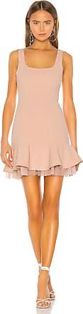 Bcbgmaxazria Flounce Hem Mini Dress in Blush