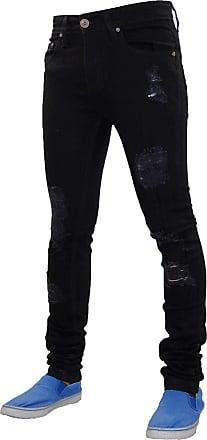 True Face Men Trousers Stretchable Denim Fabric Jeans Black Jeans 30W X 32L