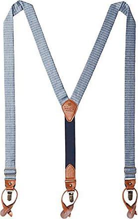 Tommy Hilfiger Mens 30mm Horizon Stripe Suspender, Blue, One Size
