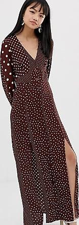Strukturvävd långklänning VitBlommig DAM   H&M SE