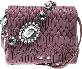 307118be28d1 Miu Miu Miu Miu Bubble Gum Matelasse Leather Crystal Crossbody Bag