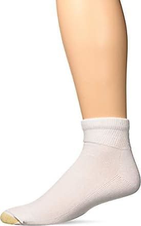 Gold Toe Mens Non Binding Super Soft Quarter 2 Pack Md, White, Sock Size: 10-13/Shoe Size:9-11