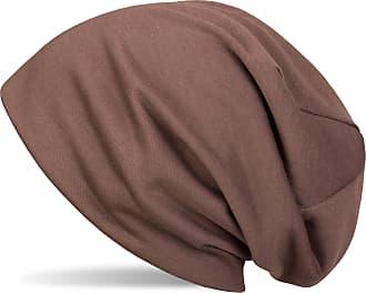styleBREAKER Classic Beanie hat, Light, Unisex 04024018, Colour:Brown