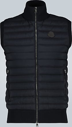 Moncler Down-filled gilet with knitted back
