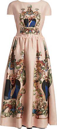 Undercover Reversible Silk Dress - Womens - Navy Multi