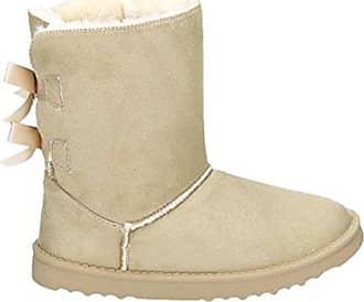 0a4fcccaf0f5 King Of Shoes Damen Stiefeletten Schnee Stiefel Boots Flache Schlupfstiefel  Warm Gefüttert Winter Schuhe 783 (