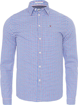 Tommy Jeans CAMISA MASCULINA ESSENTIAL MULTI CHECK - AZUL