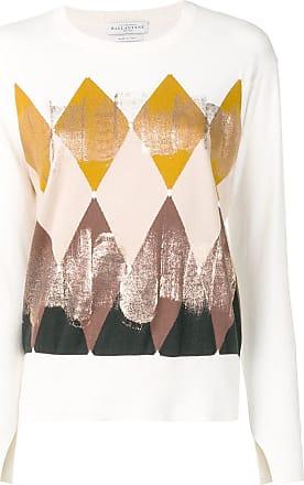 Ballantyne Blusa de tricô com estampa geométrica - Branco
