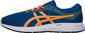 Asics running shoes with Amplifoam and a moulded rubber outsole providing cushioning and durability