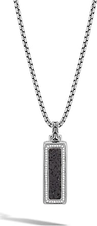 John hardy necklaces must haves on sale at usd 32500 stylight john hardy mens classic chain volcanic diamond silver box chain pendant necklace 26l aloadofball Image collections