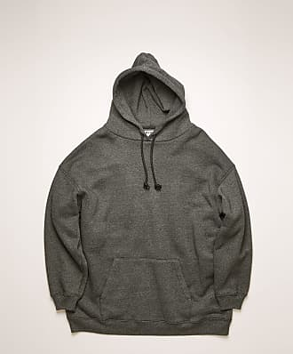 Acne Studios FN-WN-SWEA000083 Black Logo-label hooded sweatshirt