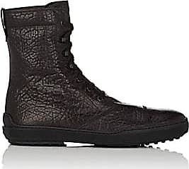 Tod's Mens Wrinkled Leather Lace-Up Boots - Dk. brown Size 7.5 M