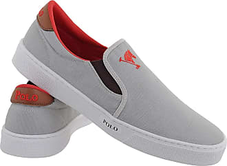 Polo Joy Tênis Polo Joy Slip On Iate Masculino Cano Baixo Casual Cinza 39