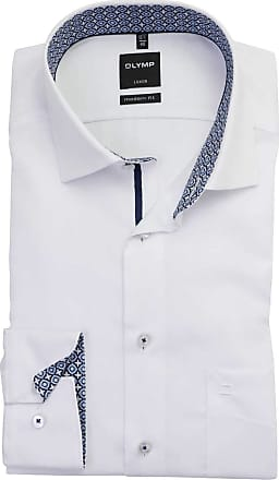 Olymp Olympic Luxor Modern Fit Shirt Long Sleeve New Kent Collar White - White - 15.5