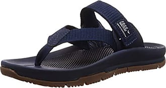 Freewaters Mens Trifecta Flip Flop Hiking Sandal w/Arch Support Stability Strap & Grippy Outsole, Navy 9 Medium US