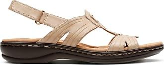 Clarks Womens Sand Leather Clarks Leisa Vine Size 5.5